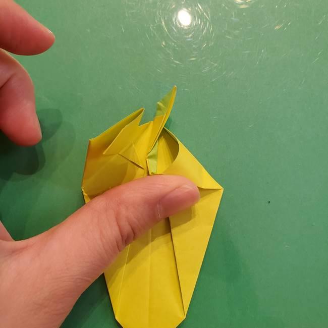 折り紙の梨 立体的でリアルな折り方作り方②後(16)