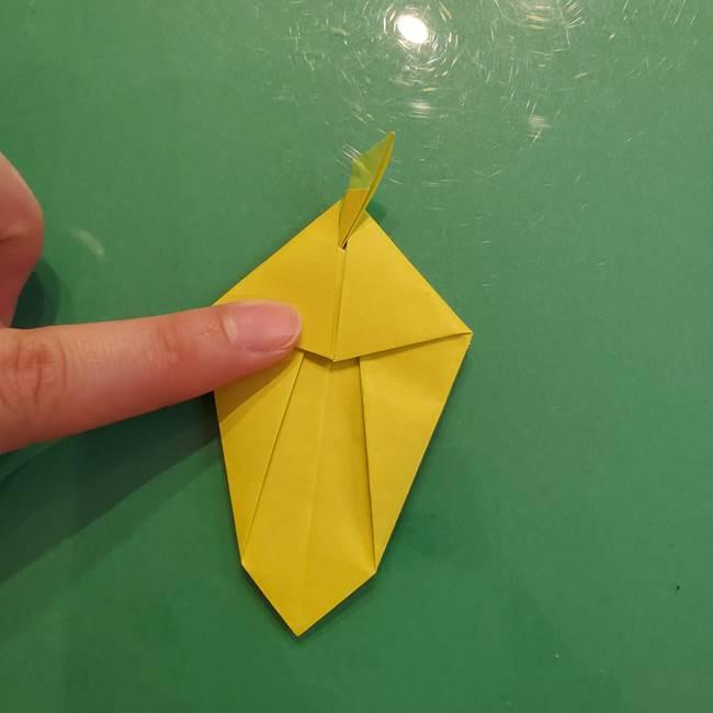 折り紙の梨 立体的でリアルな折り方作り方②後(17)