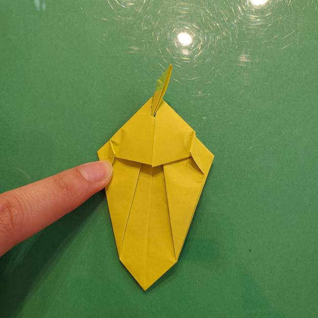 折り紙の梨 立体的でリアルな折り方作り方②後(18)