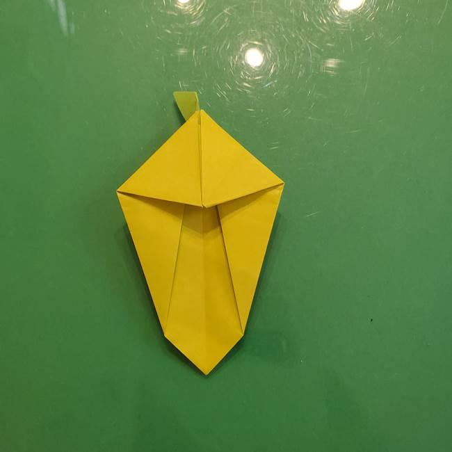 折り紙の梨 立体的でリアルな折り方作り方②後(19)