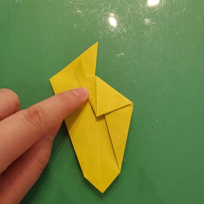 折り紙の梨 立体的でリアルな折り方作り方②後(2)