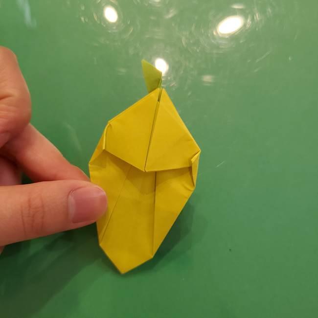 折り紙の梨 立体的でリアルな折り方作り方②後(20)
