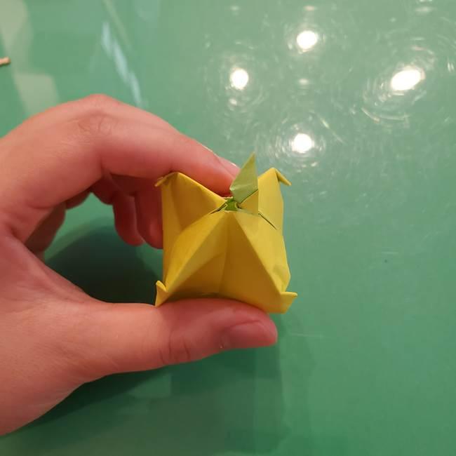 折り紙の梨 立体的でリアルな折り方作り方②後(26)
