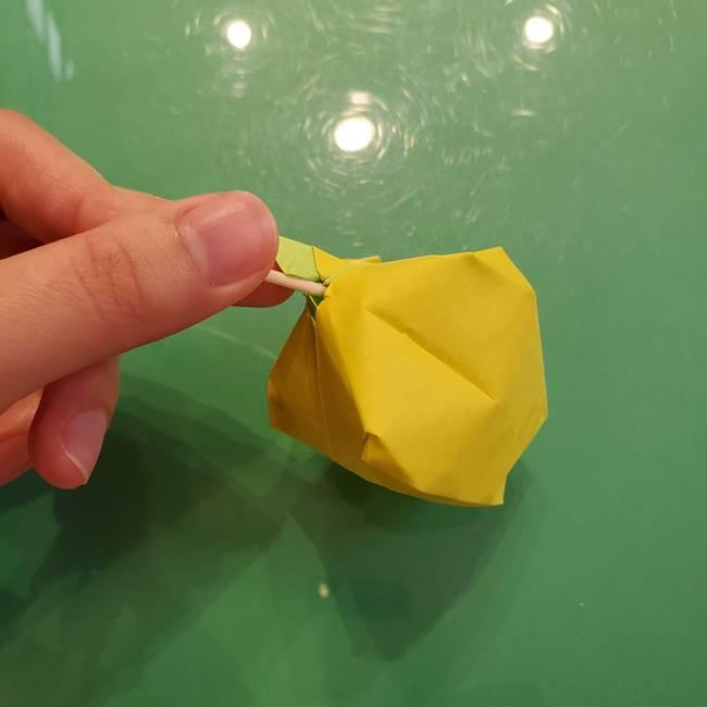 折り紙の梨 立体的でリアルな折り方作り方②後(27-2)