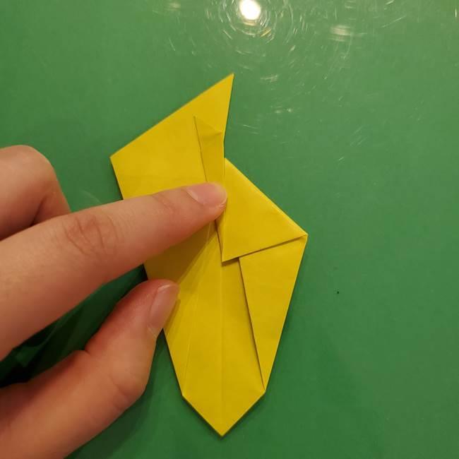 折り紙の梨 立体的でリアルな折り方作り方②後(3)