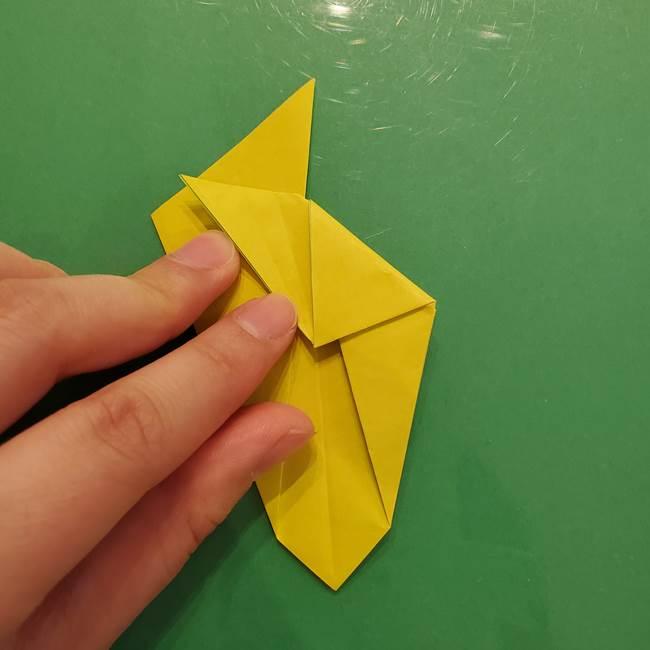 折り紙の梨 立体的でリアルな折り方作り方②後(4)
