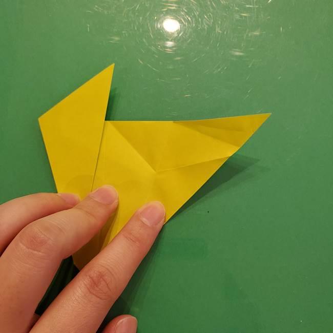 折り紙の梨 立体的でリアルな折り方作り方②後(5)