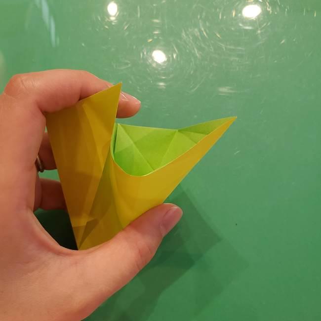 折り紙の梨 立体的でリアルな折り方作り方②後(6)