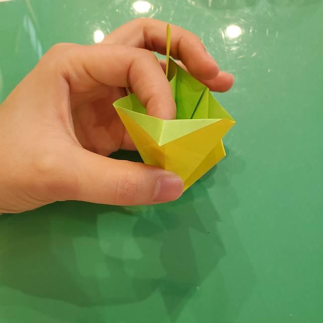 折り紙の梨 立体的でリアルな折り方作り方②後(8)