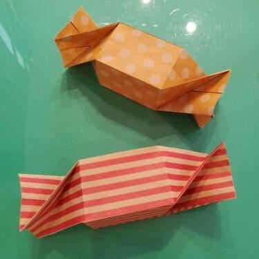 折り紙 キャンディーボックスの簡単な折り方★飴入れのラッピングがかわいい!