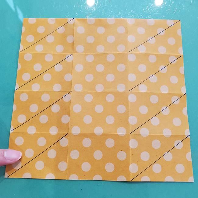 折り紙 キャンディーボックスの簡単な折り方作り方①折り方(17)