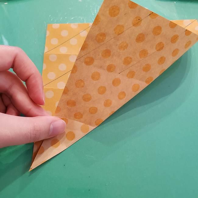 折り紙 キャンディーボックスの簡単な折り方作り方①折り方(18)