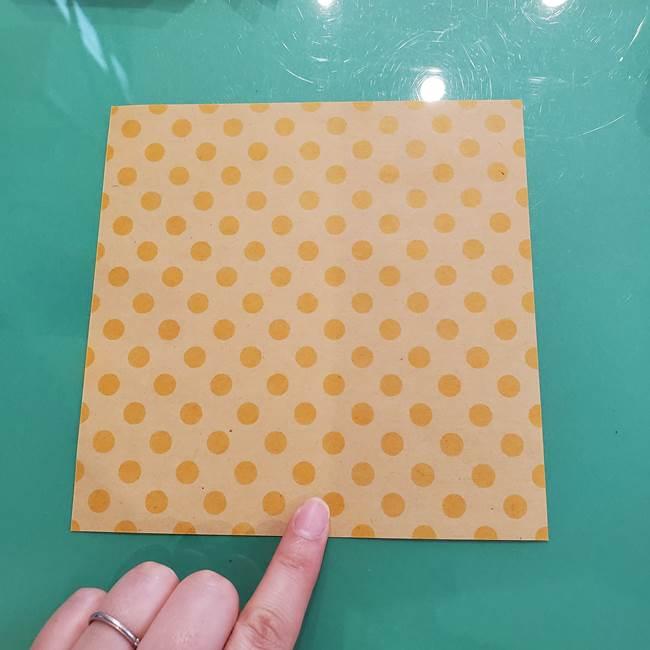 折り紙 キャンディーボックスの簡単な折り方作り方①折り方(2)