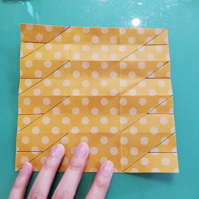 折り紙 キャンディーボックスの簡単な折り方作り方①折り方(20)
