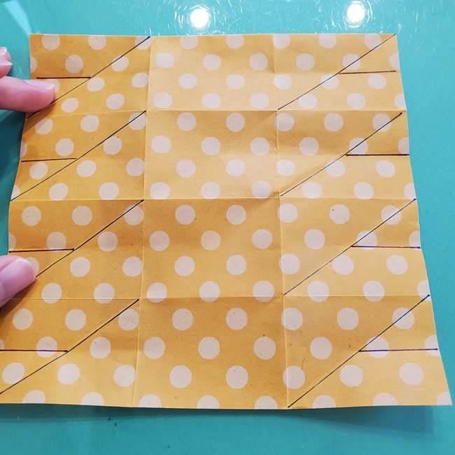 折り紙 キャンディーボックスの簡単な折り方作り方①折り方(22)