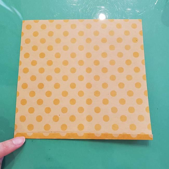 折り紙 キャンディーボックスの簡単な折り方作り方①折り方(3)