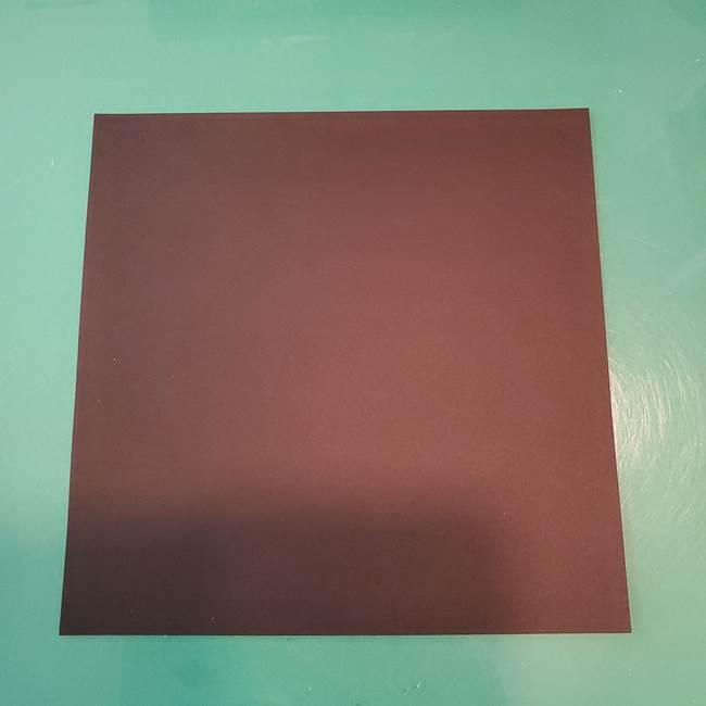 蜘蛛の巣の折り紙の切り絵*用意するもの(1)