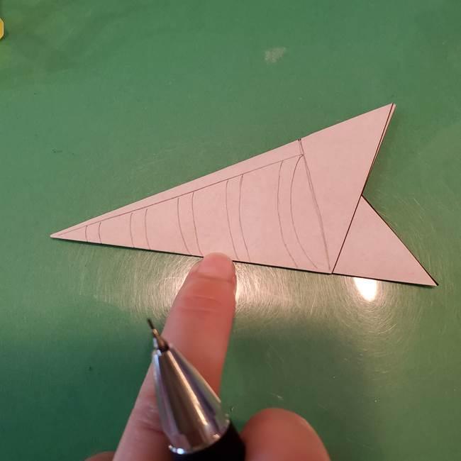 蜘蛛の巣の折り紙 切り絵の切り方折り方②切り方(1)