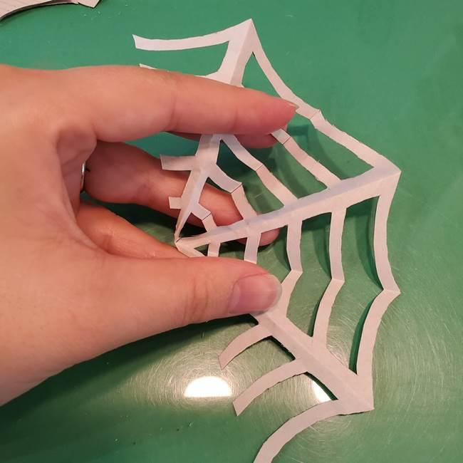 蜘蛛の巣の折り紙 切り絵の切り方折り方②切り方(5)