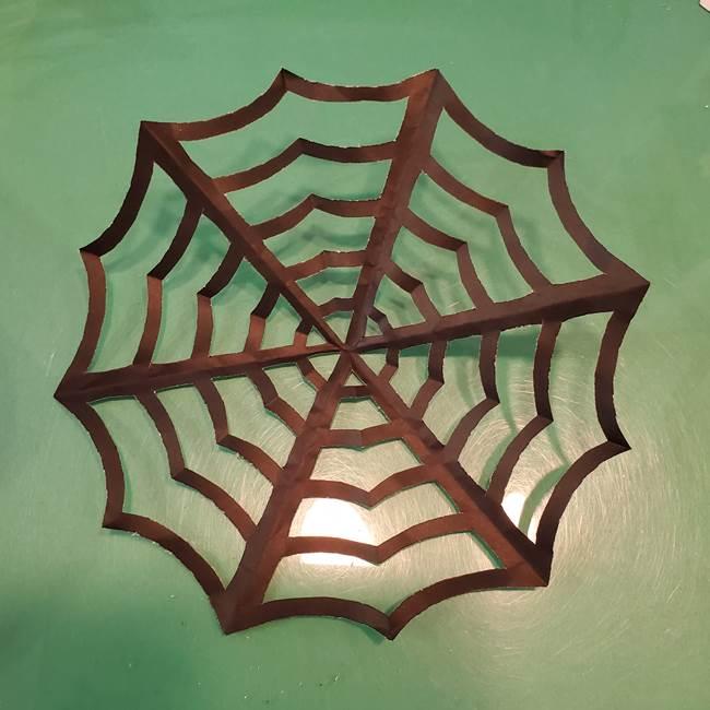 蜘蛛の巣の折り紙 切り絵の切り方折り方②切り方(6)