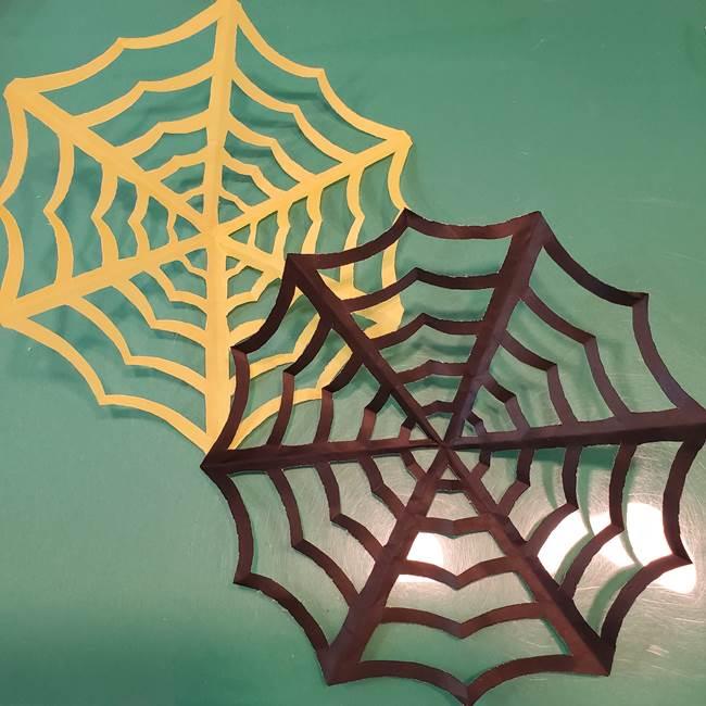 蜘蛛の巣の折り紙 切り絵の切り方折り方★ハロウィン感満載でかわいい壁面飾り
