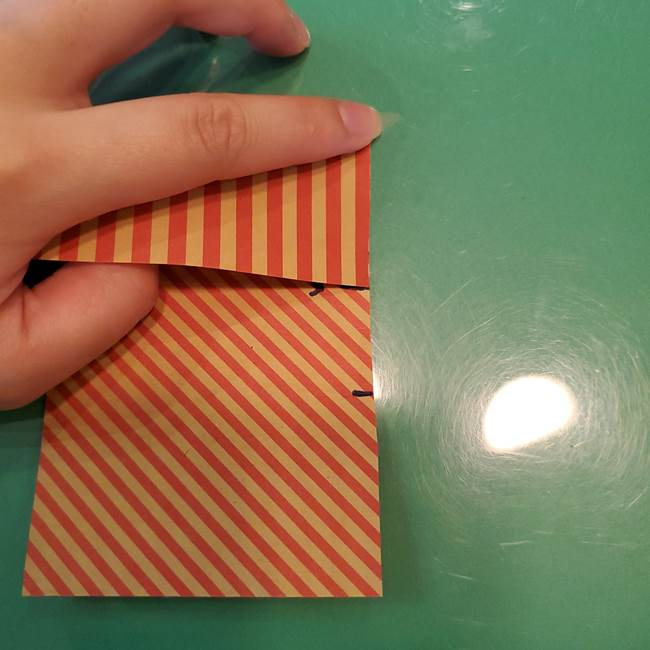 飴のラッピングできる折り紙の折り方(11)