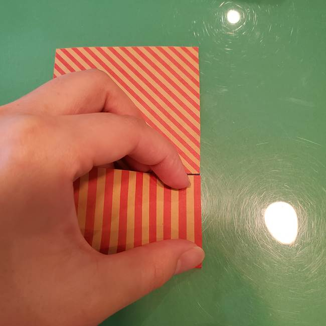 飴のラッピングできる折り紙の折り方(9)