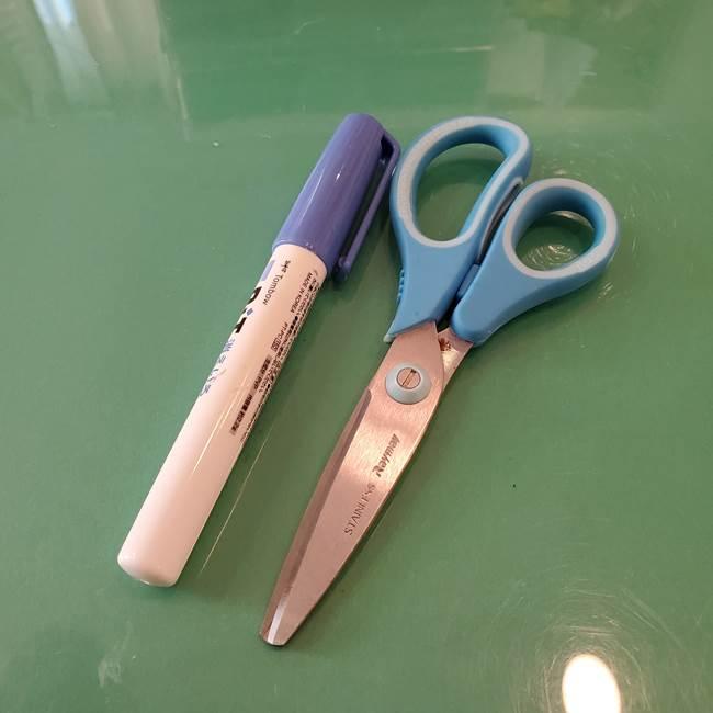 飴のラッピングを折り紙で手作り♪用意するもの(2)