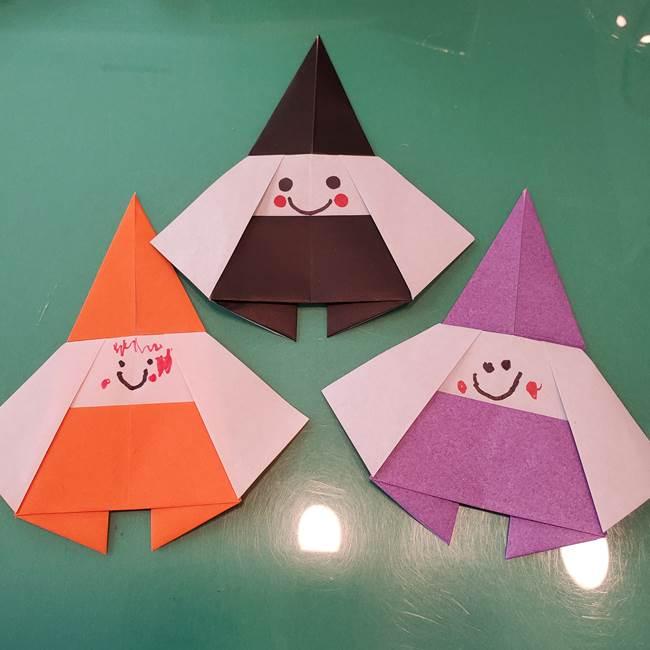 魔女の折り紙 幼児でも簡単♪かわいいハロウィンの飾りは5歳児から作れる!