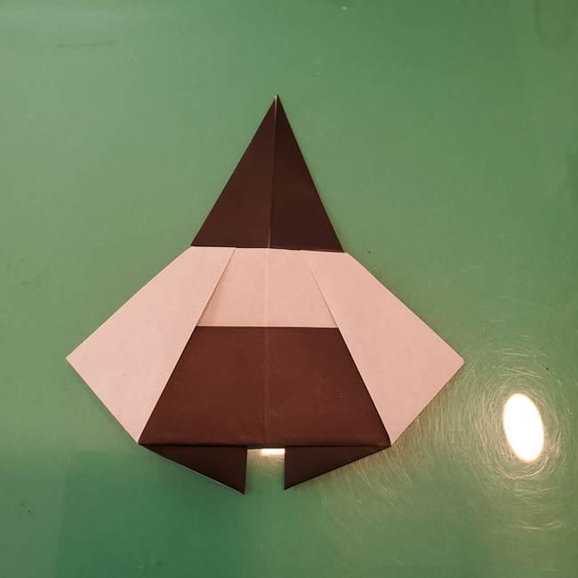 魔女の折り紙 幼児でも簡単な折り方作り方①折る(24)