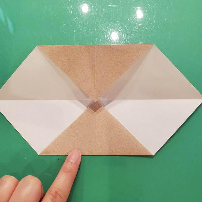 鮭の折り紙の折り方作り方②皮(2)