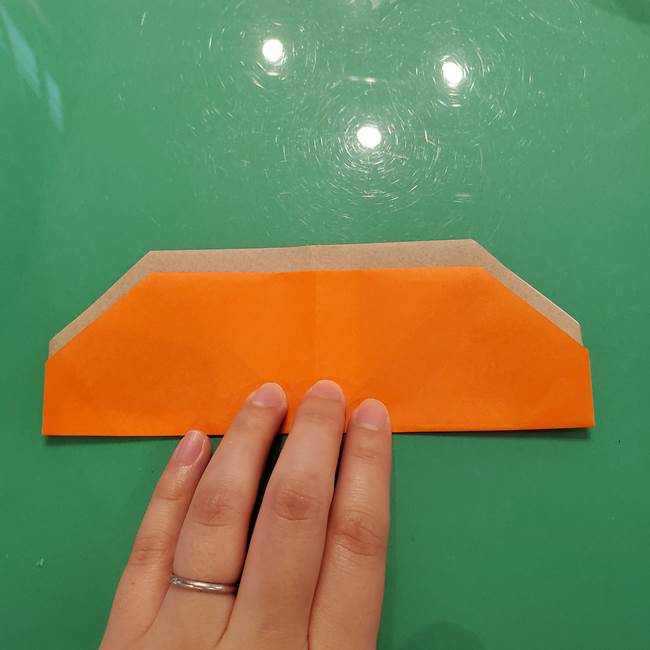 鮭の折り紙の折り方作り方③組み合わせ(5)