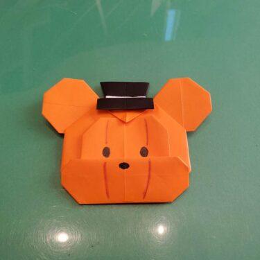 かぼちゃミッキーの折り紙★ハロウィンのツムツムを作ったよ!折り方作り方