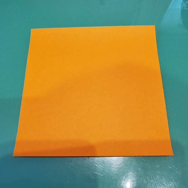 かぼちゃミッキーの折り紙*折り方作り方①ミッキー(1-1)