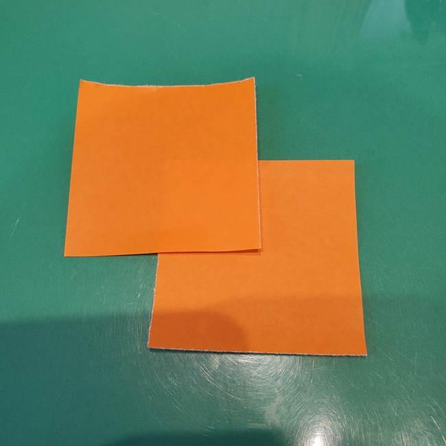 かぼちゃミッキーの折り紙*折り方作り方①ミッキー(1-2)