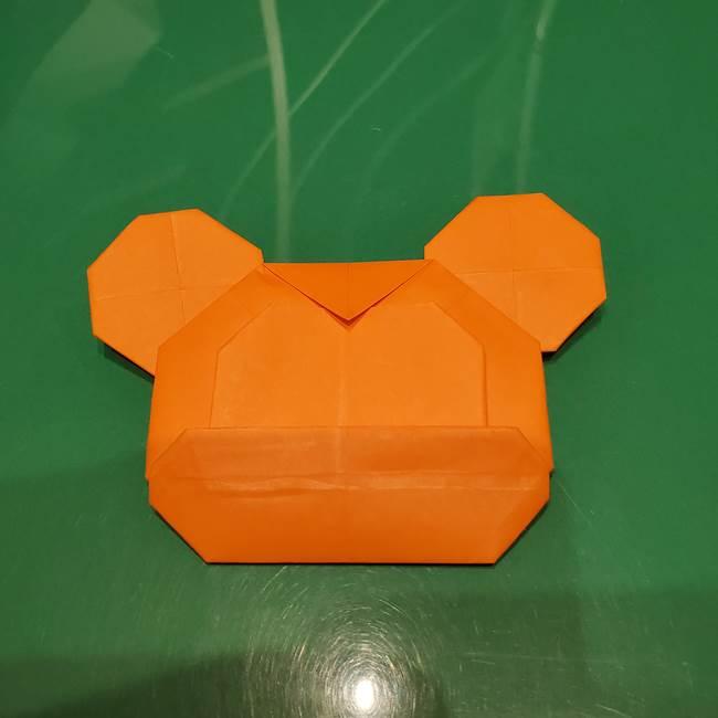 かぼちゃミッキーの折り紙*折り方作り方①ミッキー(3)