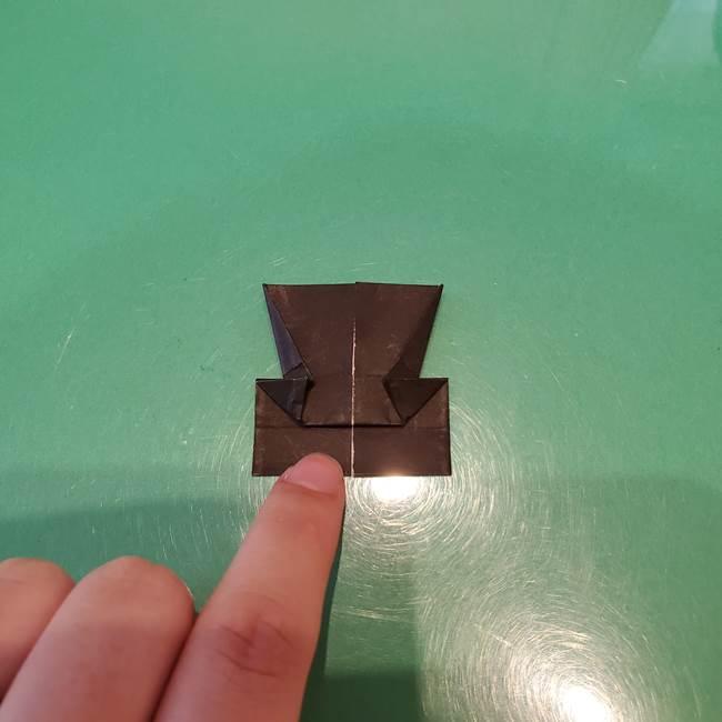 かぼちゃミッキーの折り紙*折り方作り方②帽子(16)