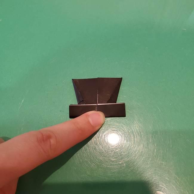 かぼちゃミッキーの折り紙*折り方作り方②帽子(17)