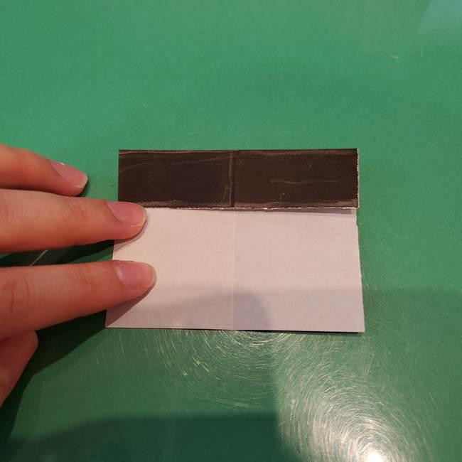 かぼちゃミッキーの折り紙*折り方作り方②帽子(6)