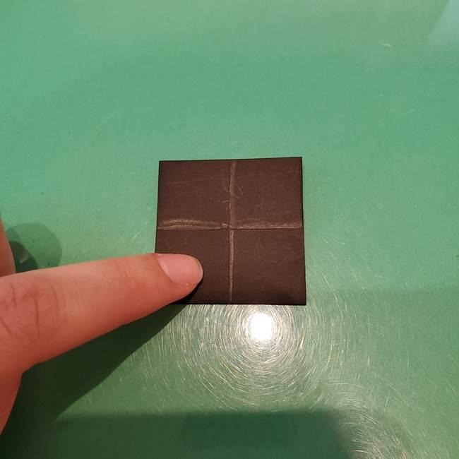 かぼちゃミッキーの折り紙*折り方作り方②帽子(9)