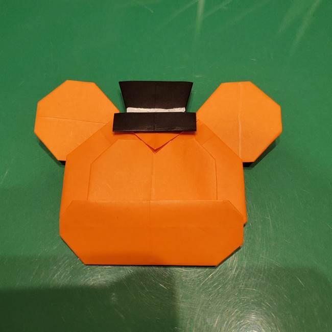 かぼちゃミッキーの折り紙*折り方作り方③完成(2)