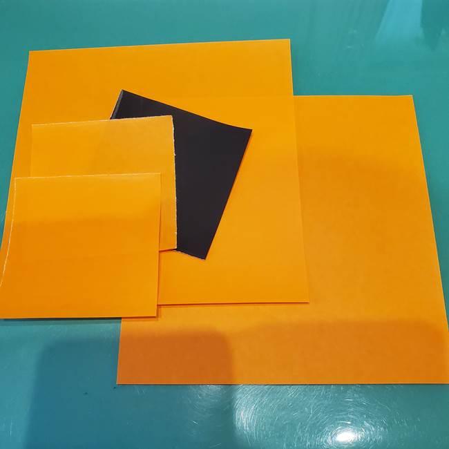 かぼちゃミッキーの折り紙*用意するもの(1)