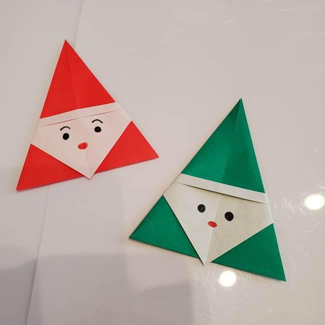 さんかくサンタの折り紙は簡単で3歳児の保育製作にも!折り図を紹介♪