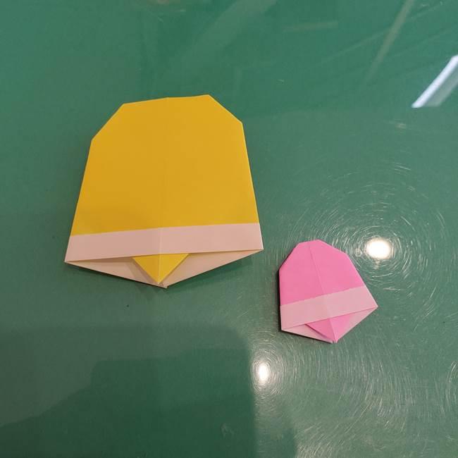 クリスマスベルの折り紙の簡単な折り方作り方☆年少年中の子どもでも製作できる♪