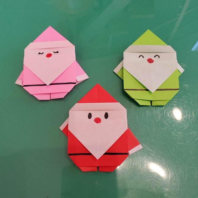 サンタを折り紙一枚でつくる折り図は?バンザイのサンタクロースが可愛い!