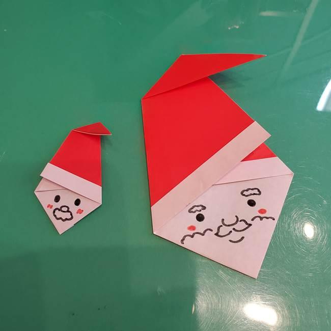 サンタクロースの折り紙は簡単で2歳児からOK!幼児向けの折り方作り方