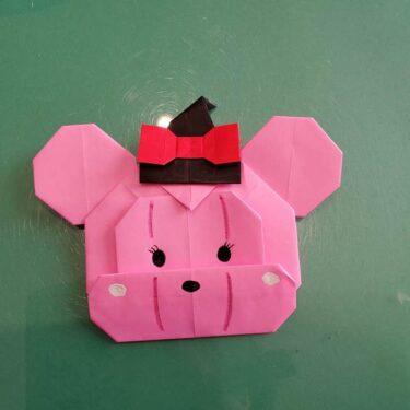 ツムツムかぼちゃミニーの折り紙|折り方作り方★ハロウィンの飾りにも♪