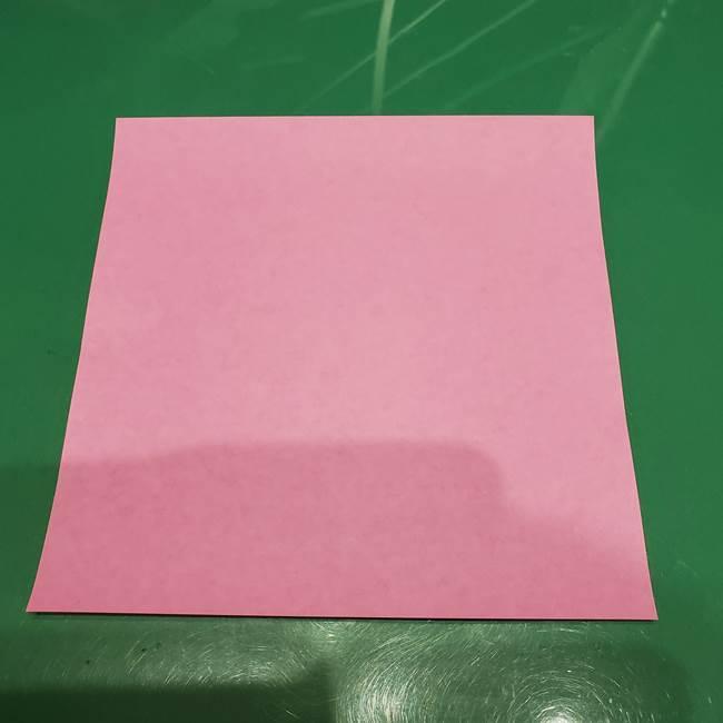 ツムツム かぼちゃミニーの折り紙の折り方作り方①ミニー(1)