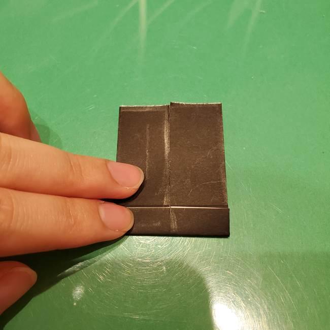 ツムツム かぼちゃミニーの折り紙の折り方作り方②帽子(10)