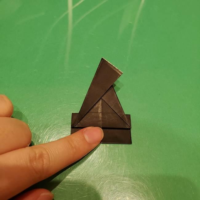 ツムツム かぼちゃミニーの折り紙の折り方作り方②帽子(13)